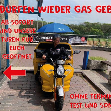 Wir dürfen wieder Gas geben!